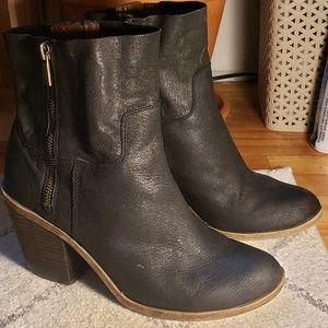 Lucky Brand Black Heeled Booties
